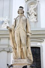 statue of musician Franz Joseph Haydn in Vienna, Austria