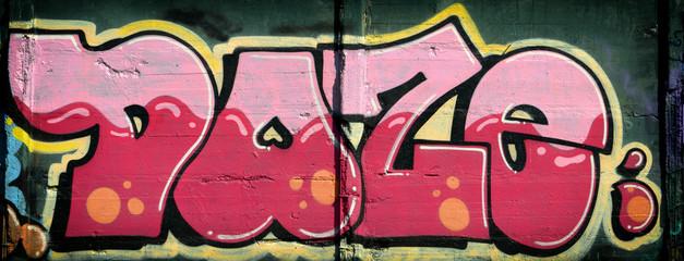 Urban graffiti on wall