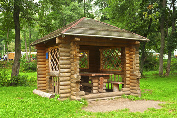Gazebo in the woods
