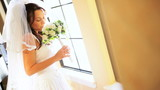 Portrait Caucasian Bride Traditional White Wedding