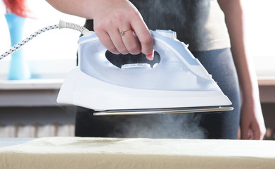 Steam from iron