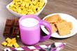 colazione con latte e cereali