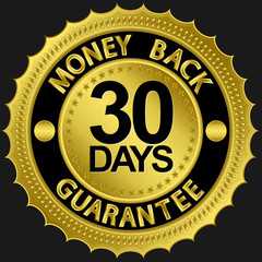 30 days money back guarantee golden sign
