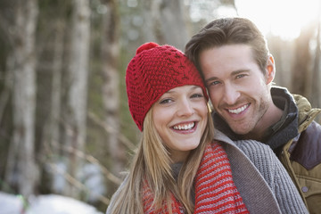 Portrait of smiling couple outdoors