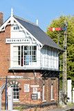 railway museum and railway station, Heckington, East Midlands,UK poster