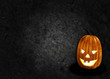 Halloween pumpkin black background