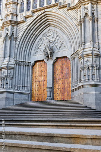Cathedral door in Arucas, Grand Canary