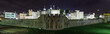 Panoramic image of the Tower of London, UK at night