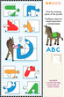 ABC learning educational puzzle (letter D)
