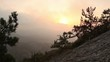 Timelapse sunrise in the mountains. Noviy Svet, Crimea, Ukraine