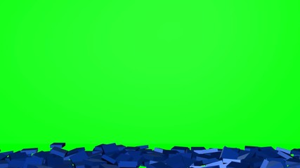 Collapse of the blue wall - green screen