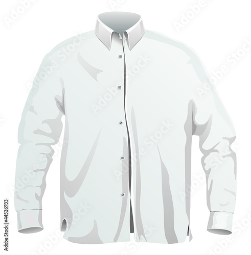Vector illustration of dress shirt. isolated on white