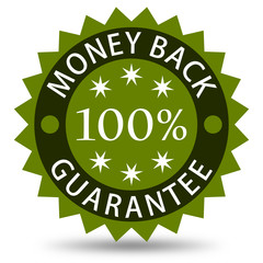 Money Back Guarantee - green