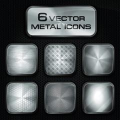 Vektor Set mit App Metall Icons