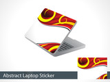 abstract leptap sticker