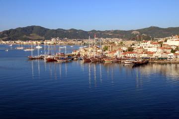 Marmaris castle and port ,Mediterranean sea, Turkey