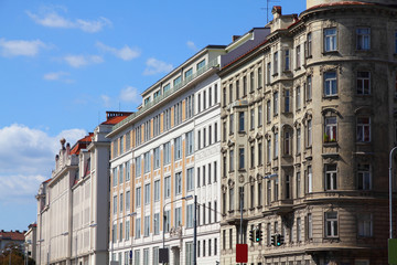 Vienna - old town residential buildings