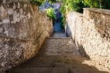 Narrow Street and Stairway in Pula, Croartia