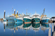 canvas print picture - Fishing Boats in a Harbour