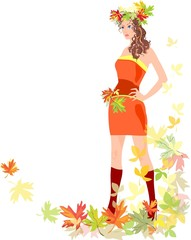 Woman in autumn