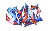 Fototapeta duży - jasny - Graffiti