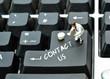 Contact us written on keyboard enter return button