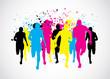 CMYK Marathon Runners