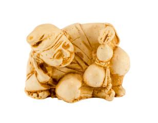 Ceramic figure chinese philosopher isolated white