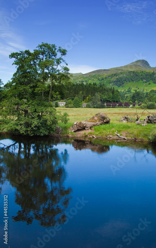 scotland, summer landscape