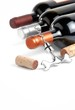 Wine bottles and corkscrew