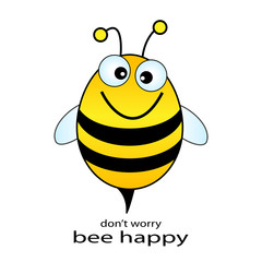 Vector bee happy illustration