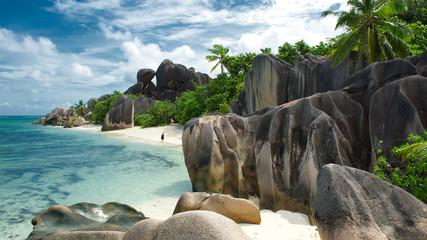 Traumstrand Anse Source D´Argent auf La Digue, Seychellen