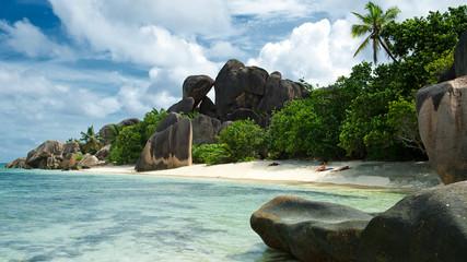 Anse Source D´Argent Strand, Insel La Digue, Seychellen