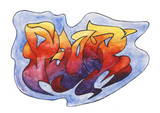 The word Power in street graffiti style over white background