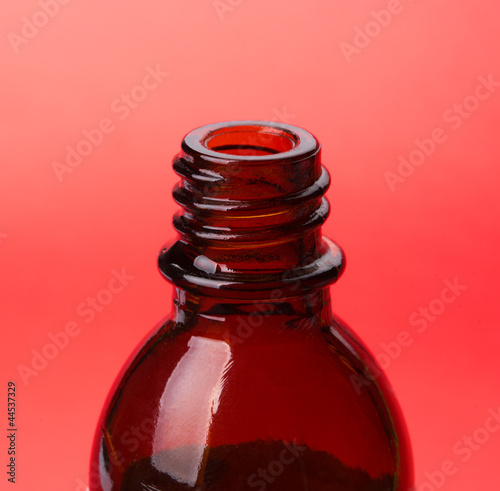 Glass bottle of medical drops