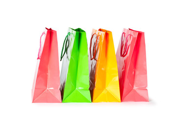 shopping gift bag isolated