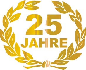 pictogramme 25 jahre