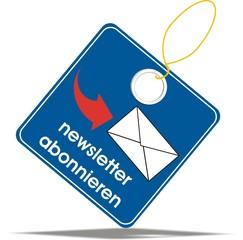 étiquette newsletter abonnieren