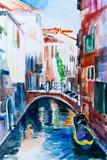 Fotoroleta Venedig - Aquarell III