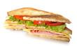 Sandwich en mitades.