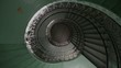 Spiral old and grunge staircase, abstract point of view