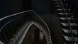 Grunge, dark and old staircase in abandoned building