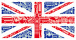 roleta: Flag of England from symbols of the United Kingdom and London