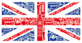 Fototapety Flag of England from symbols of the United Kingdom and London
