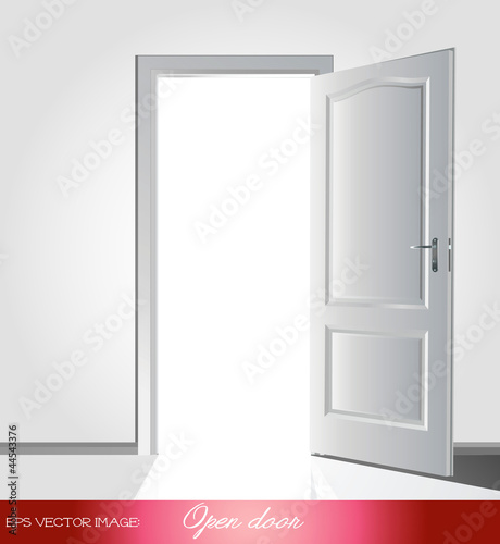 eps Vector image: Open door