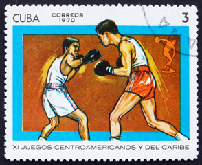 Postage stamp Cuba 1970 Boxing