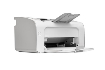 laser printer isolated on white background