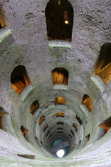 breathtaking view of well of san patrizio in Orvieto