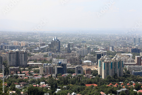 Skyline of Almaty city