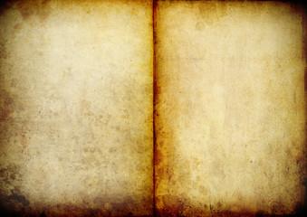 vergilbtes, altes Buch Doppelseite